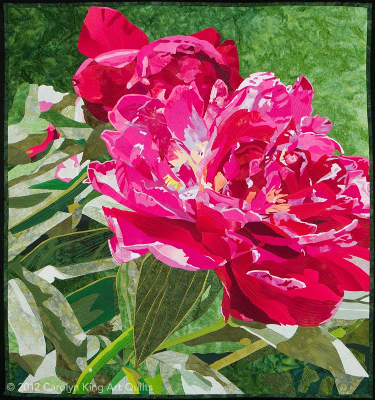 A Peony Has Entered the Building by Carolyn King