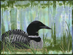 CarolynKingArtQuilts_Loon-at-Rest_thumb